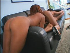 Brazilian lesbians eating bawdy cleft and sharing toys