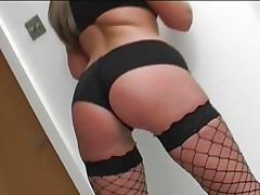Emma Butt is fully fucked in her fishnet stockings