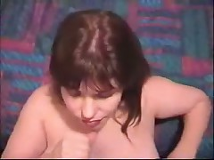 Mature wife strokes penis