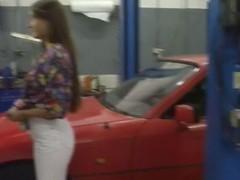 German teen fucks the mechanic to afford her car's repairs