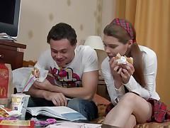 russian schoolgirl getting her nipples sucked