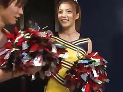 cute asian cheerleader receives a naughty treatment