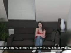 Smoking hawt chick strips and is asked to masturbate wildly