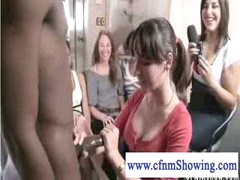 cfnm mils discovering the balck dick loves to jerk it