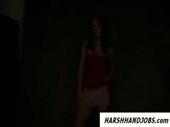 Hungarian model tricked in handjob during photo shoot